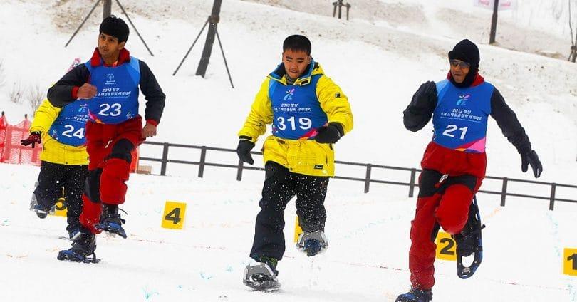 Snowshoeing olimpics