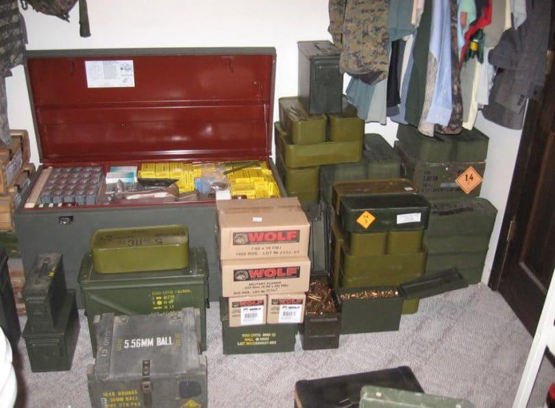 Storage of ammo
