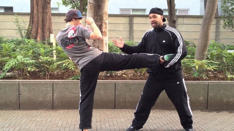 Your stance in street fight