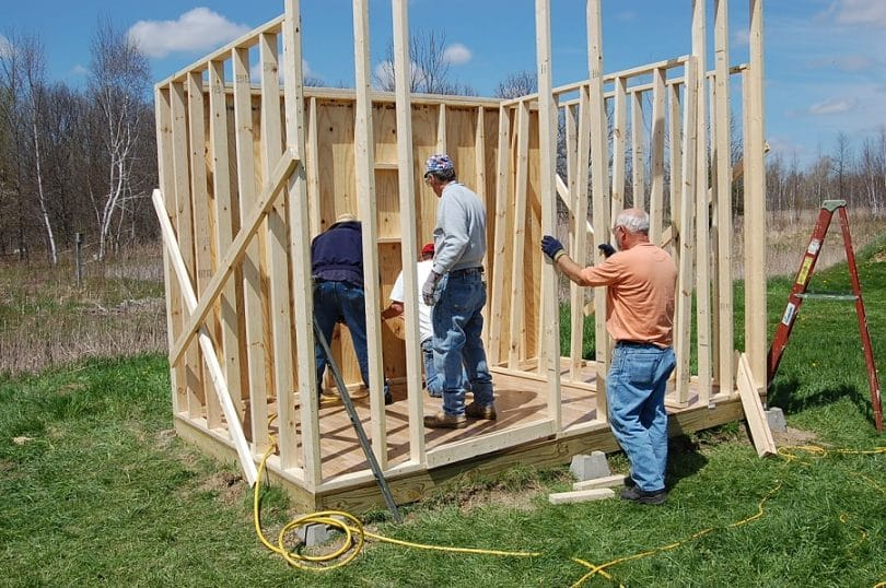Construction of outhouse