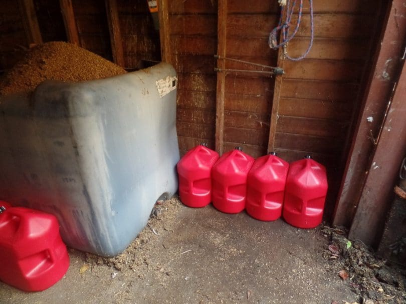Gasoline storage room