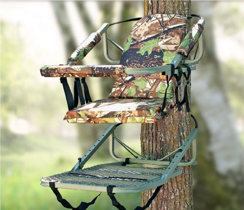 Portable Tree Stand Climber with Harness