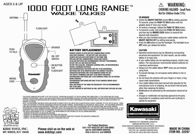 Range walkie talkies