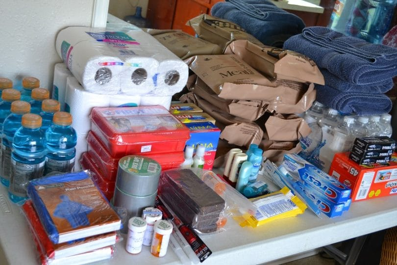 Supplies for bug out shelter