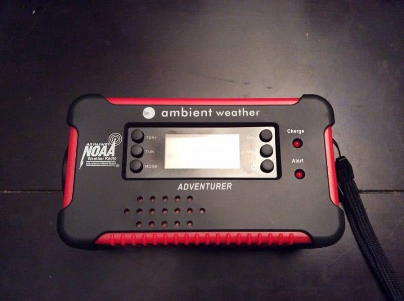 Ambient Weather WR-111A Emergency Solar Hand Crank Charger