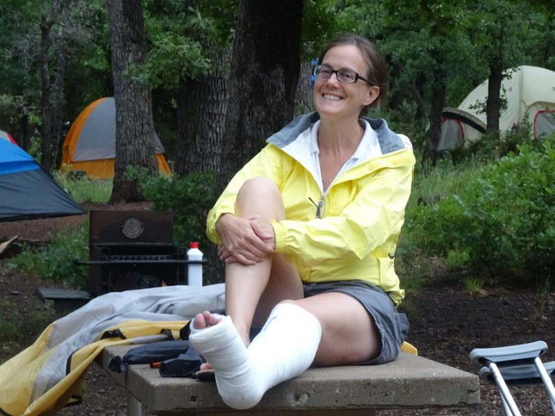Camping Fractures and sprains