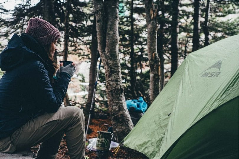 Clothing and rainwear for camping