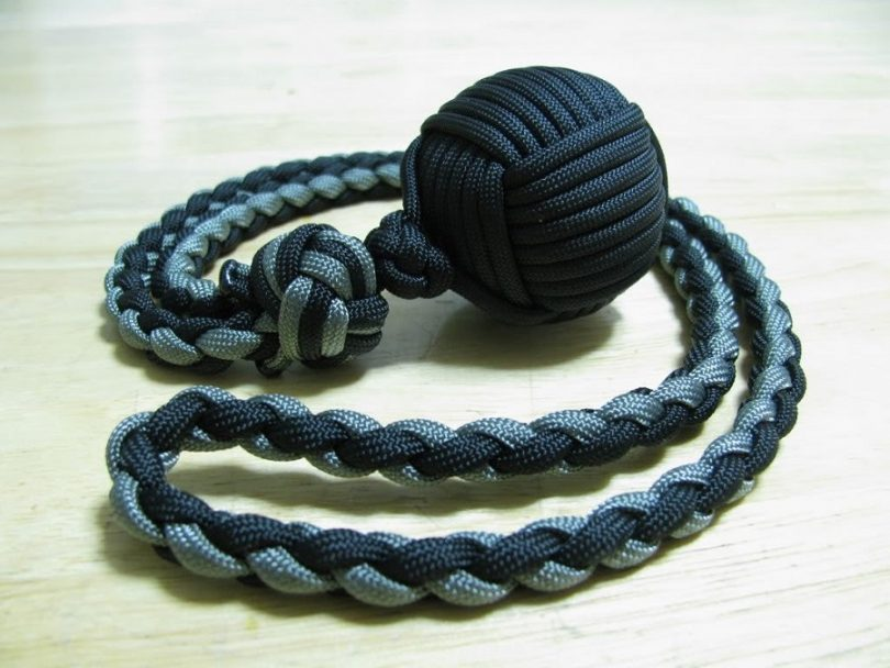 Monkey fist made from paracord