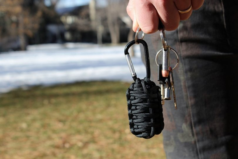 Paracord grenade in the hand