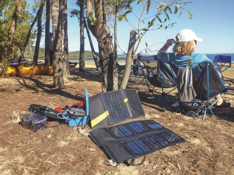 Portable Solar Power in use