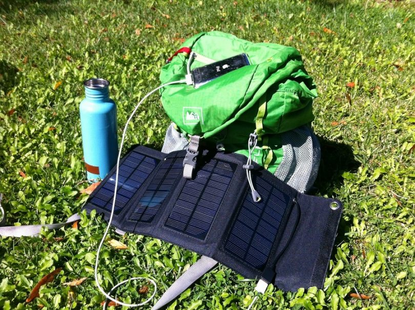 Solar Charger on backpack