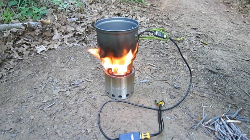 Solo stove cooking