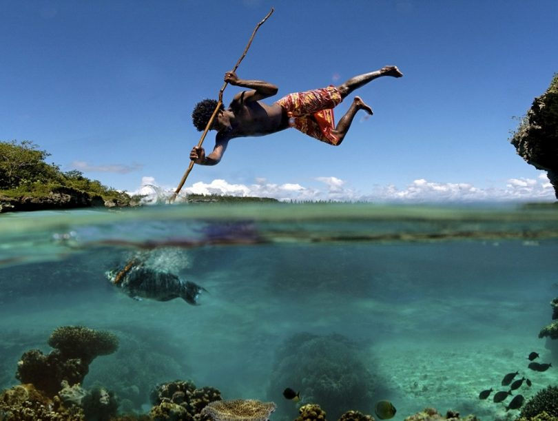 Spear fishing style