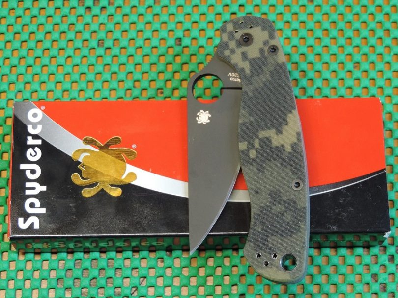 Spyderco ParaMilitary2 G-10 PlainEdge Knife