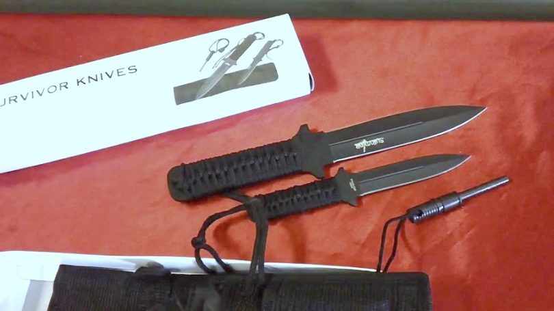 Survivor HK-1035 Fixed Blade Outdoor Knife Set