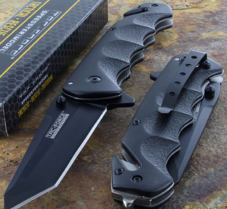 TAC Force Black Blade tactical Knife