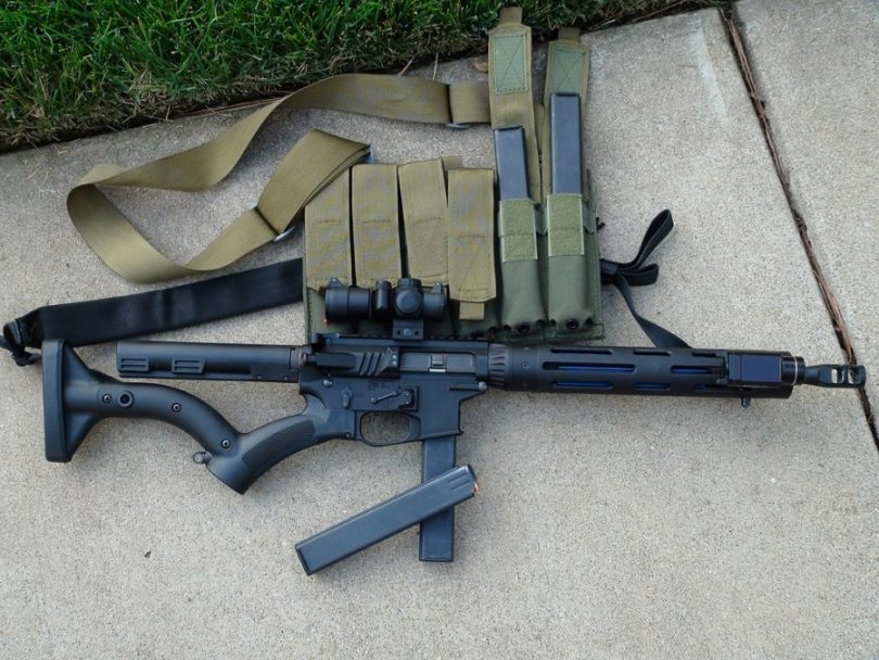 Aero survival rifle on the ground
