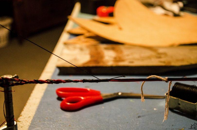 Bow string and nail
