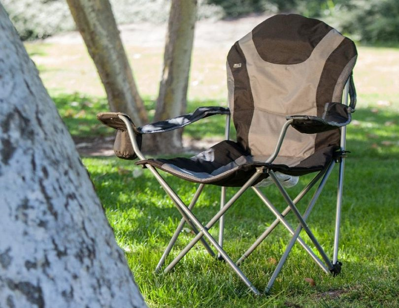 Deluxe Padded Reclining Camping Fishing Beach Chair