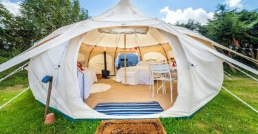 Glamourous tent