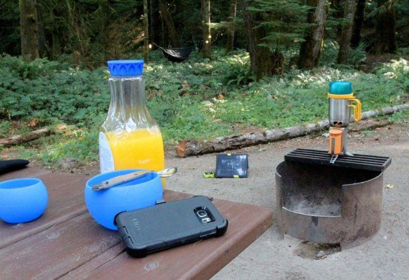 Make emergency battery for camping trip