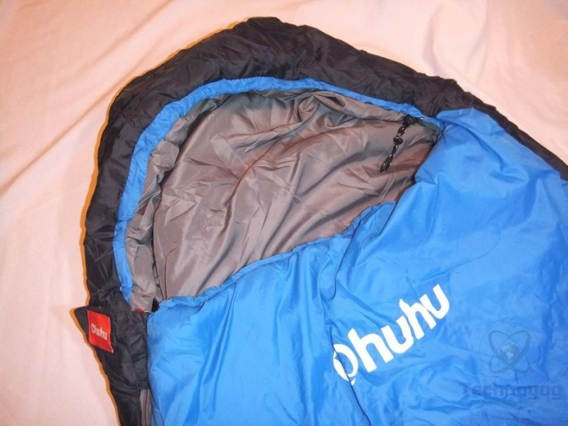 Ohuhu 0 Degree Mummy Camping Sleeping Bag with Carrying Bag