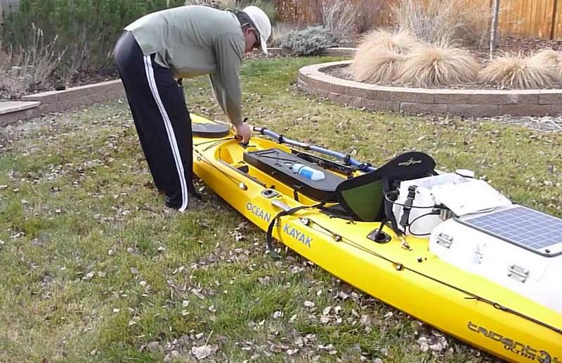 Rigging a kayak