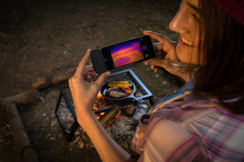 Smartphone on camping