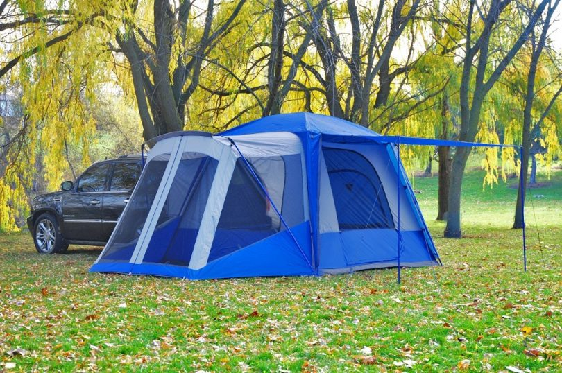 SportZ SUV Blue Grey Tent with Screen Room