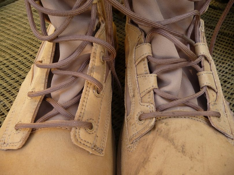 Sturdy laces on boots