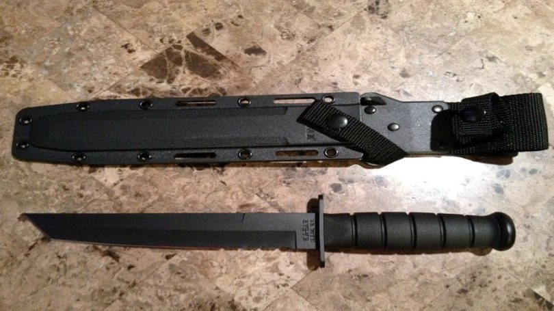 The Ka-Bar Black Fighting Blade