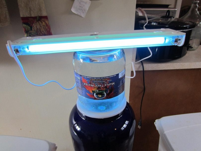 The LED water purifier