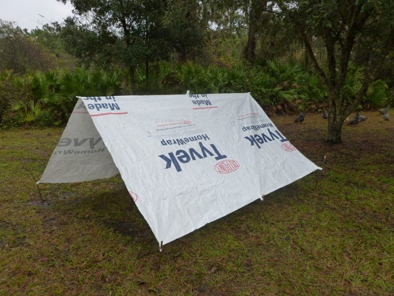 The Tyvek tarp tent