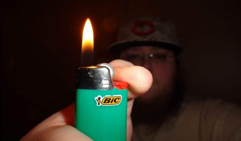 Bic lighter flame