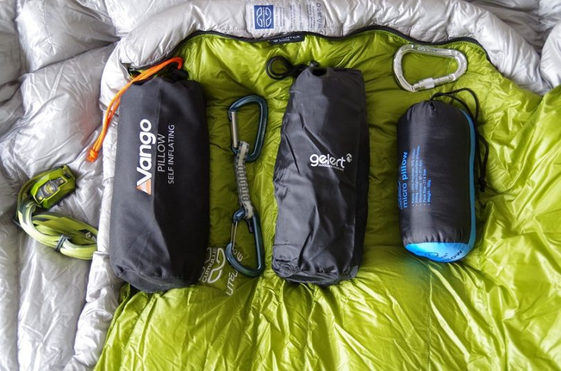 Camping pillow packing size
