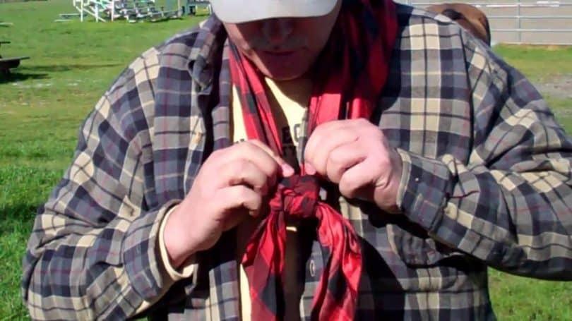Cowboy scarf wear