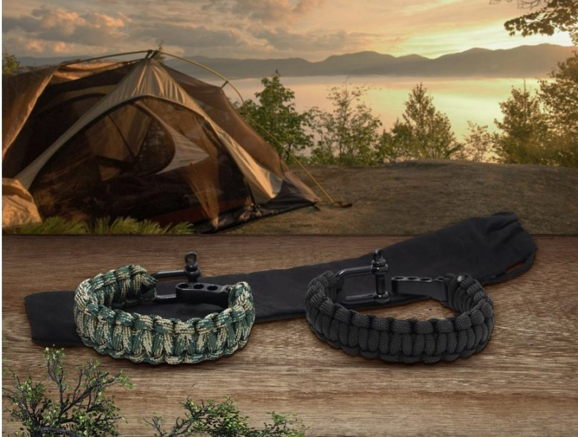Gecko Equipment Army Green Black King Cobra Paracord Survival Bracelet