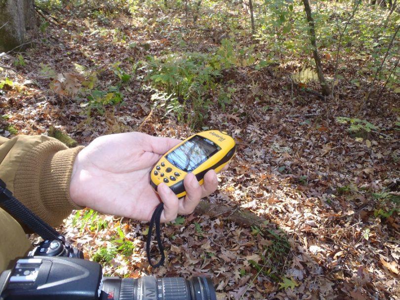 Hiking GPS unit