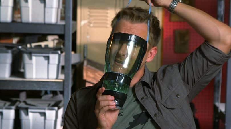 Homemade gas mask