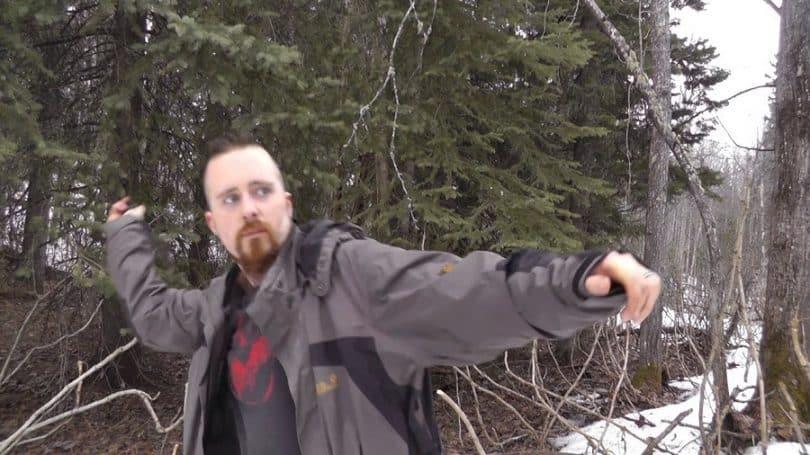 Practice tomahawk throwing