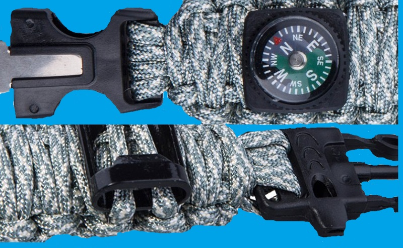 TTLIFE Ultimate 13 Pieces Survival Kit Including Paracord Bracelet