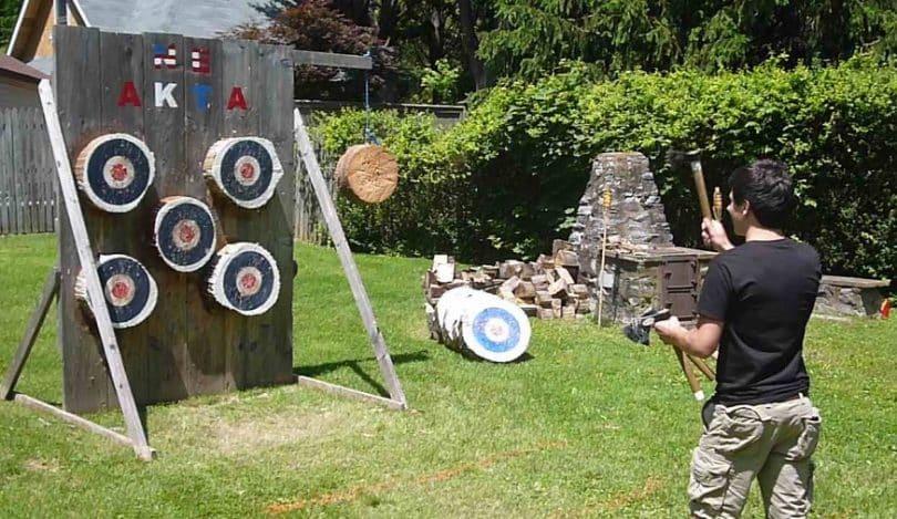 Tomahawk Throwing practice