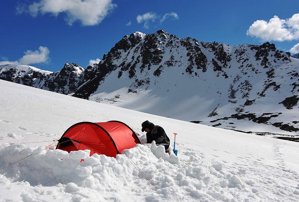 "Heating a Tarp Teepee Using the G2- 5"" Folding Firebox ...  |Heated Winter Camping Shelters"