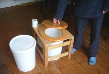 camping toilet DIY