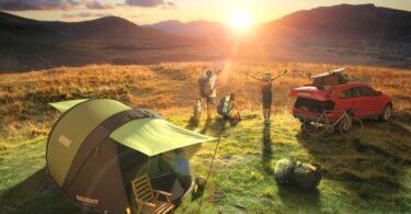 solar powered tent outdoor