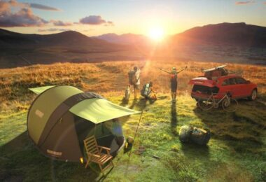 solar powered tent outdoor