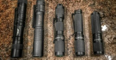 survival flashlights on dispaly