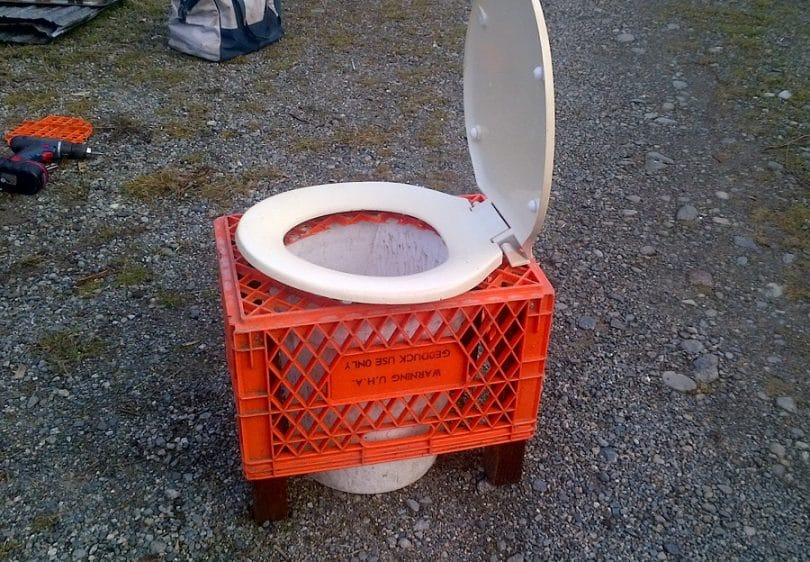diy camping toilet making