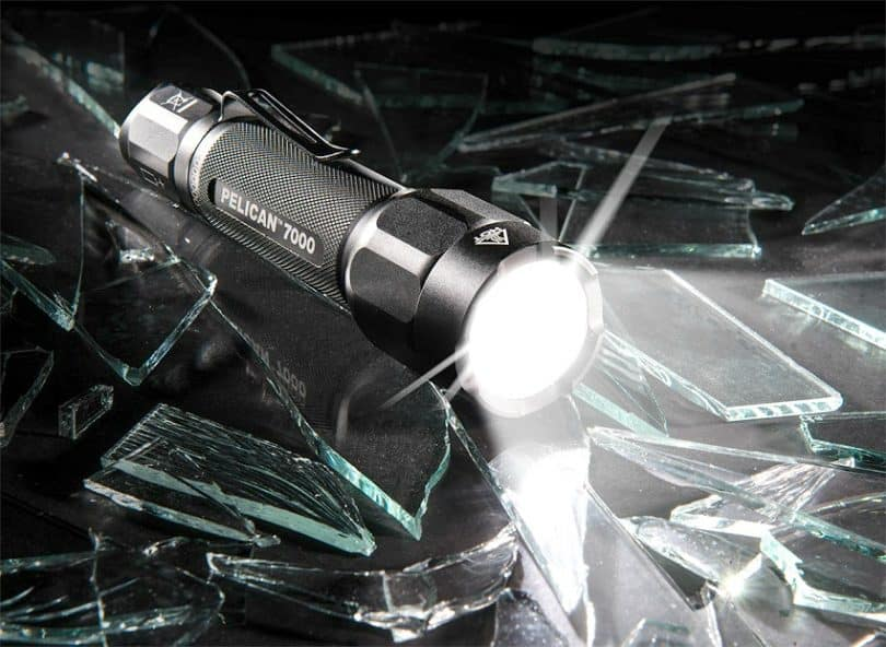pelican high lumens led tactical flashlight shining bright