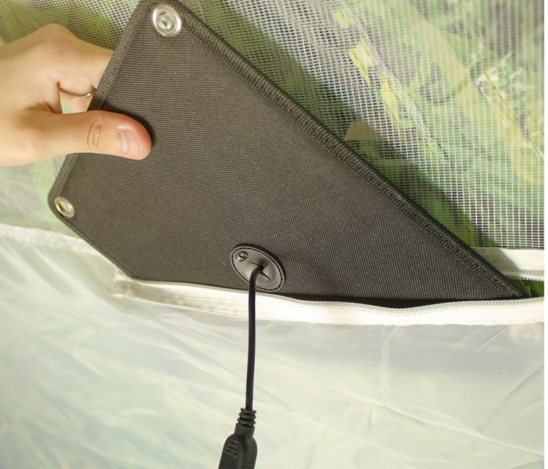 solar powered tent cells
